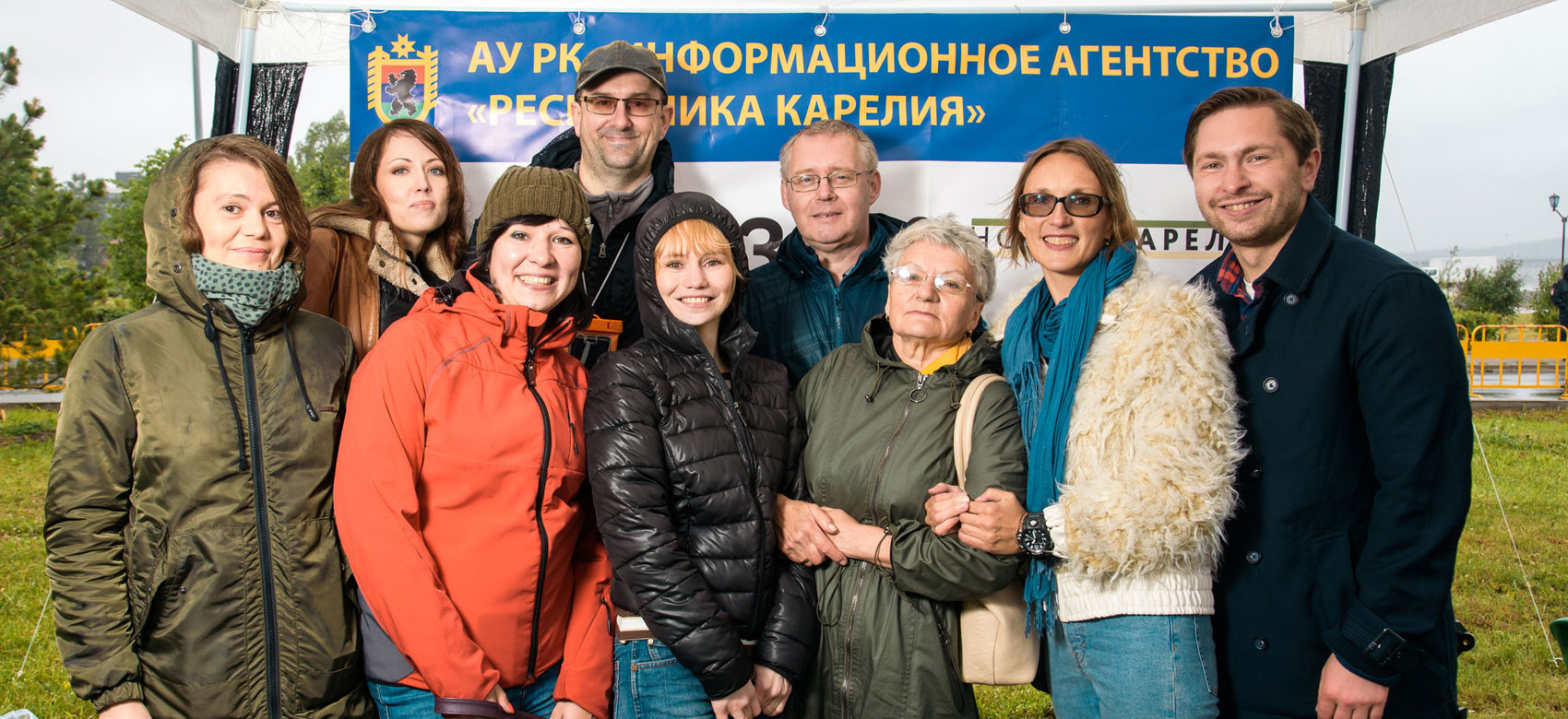 Сотрудники агентства на традиционной Аллее прессы в День города Петрозаводска 30 июня 2018 года